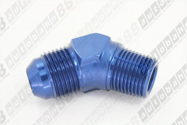 45 Degree 8 AN 8 Male Flare Union 45 Degree  Adaptor